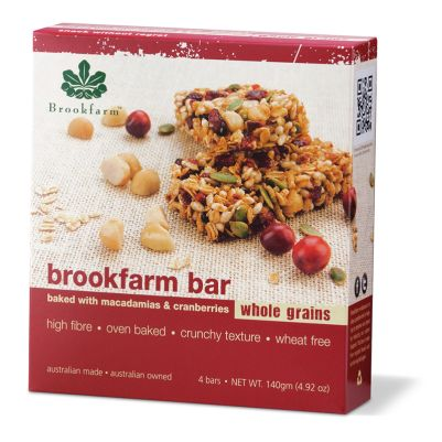 Brookfarm Toasted Bar with Cranberry 4pk (WA)
