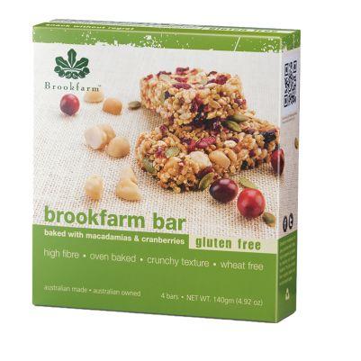 Brookfarm Gluten Free Bar with Cranberry 4pk