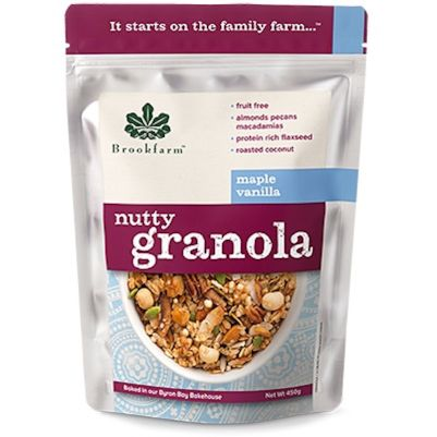 Brookfarm Nutty Granola Maple Vanilla 450g (WA)