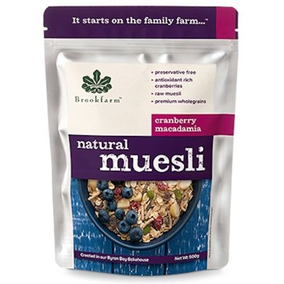 Brookfarm Natural Muesli with Cranberry 500g (WA)