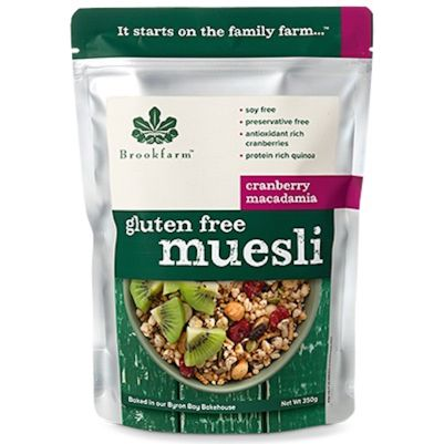 Brookfarm Gluten Free Muesli with Cranberry 350g