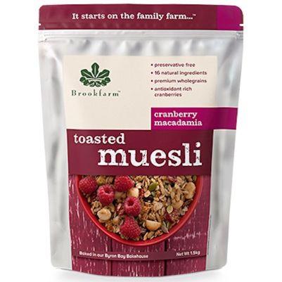 Brookfarm Toasted Muesli with Cranberry 1.5kg (WA)