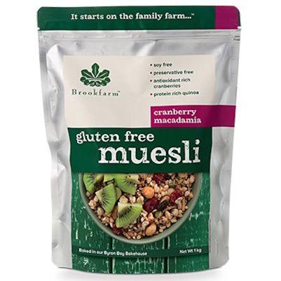 Brookfarm Gluten Free Muesli with Cranberry 1kg (WA)