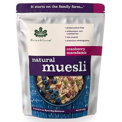 Brookfarm Natural Muesli with Cranberry 1.5kg (WA)
