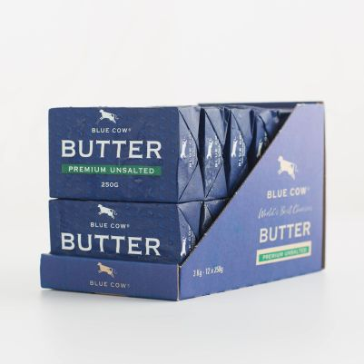 Blue Cow Premium Butter Unsalted 250g