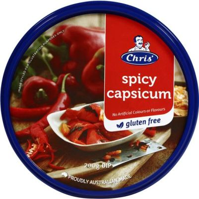 Chris' Traditional Spicy Capsicum Dip 200g (WA)