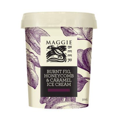 Maggie Beer Icecream Burnt Fig Honey & Caramel 500ml (WA & QLD)