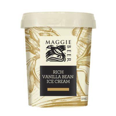 Maggie Beer Icecream Rich Vanilla 500ml (WA & QLD)