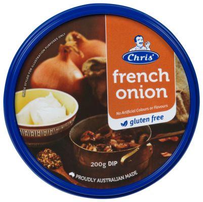 Chris' Traditional French Onion Dip 200g (WA)