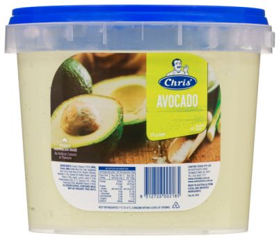 Chris' Traditional Avocado Dip 2kg (WA)