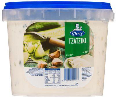 Chris' Traditional Tzatziki Dip 2kg (WA)