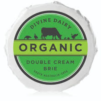 Divine Dairy Organic Double Cream Brie 200g
