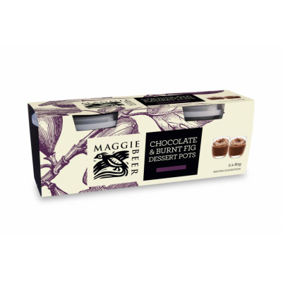 Maggie Beer Chocolate & Burnt Fig Dessert Pots 160g (WA & QLD)