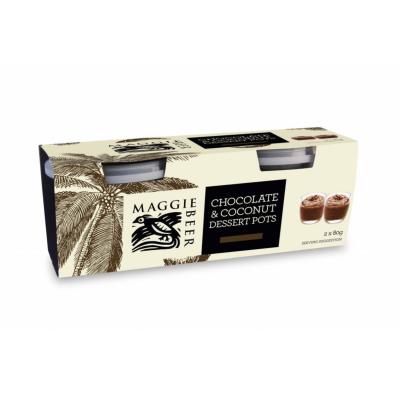 Maggie Beer Chocolate & Coconut Dessert Pots 160g (WA & QLD)