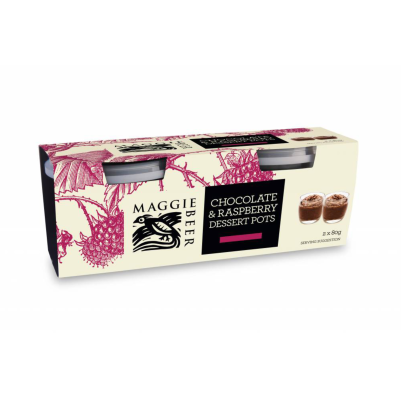 Maggie Beer Chocolate & Raspberry Dessert Pots 160g (WA & QLD)