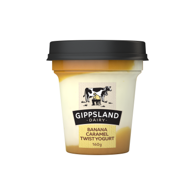 Gippsland Yoghurt Banana and Caramel 160g