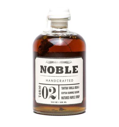 Noble Handcrafted Tonic 02  Tahitian Vanilla & Egyptian Chamomile Infused Maple Syrup (WA)