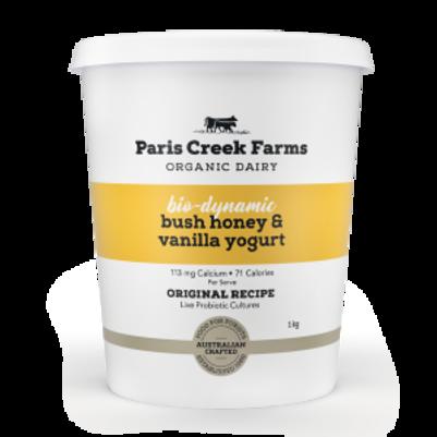 Paris Creek Farms Bush Honey & Vanilla Yoghurt 1kg (WA)
