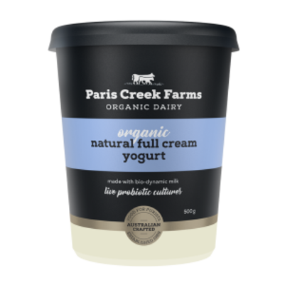 Paris Creek Farms Organic Natural Yogurt 500g (WA)