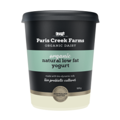Paris Creek Farms Organic Natural Low Fat Yogurt 500g (WA)