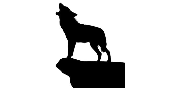Silueta Lobo: Silueta Lobo Descargar Gratis Vector