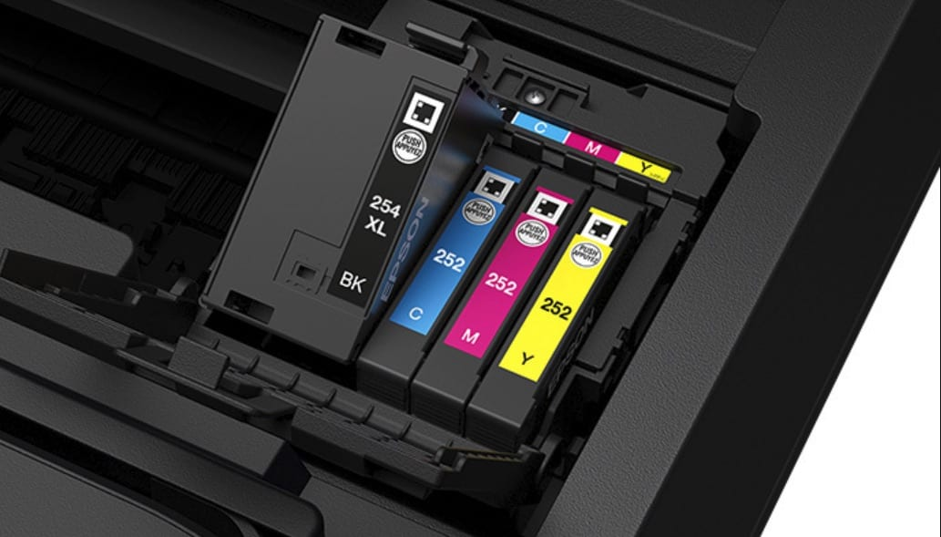 how to change epson printer ink