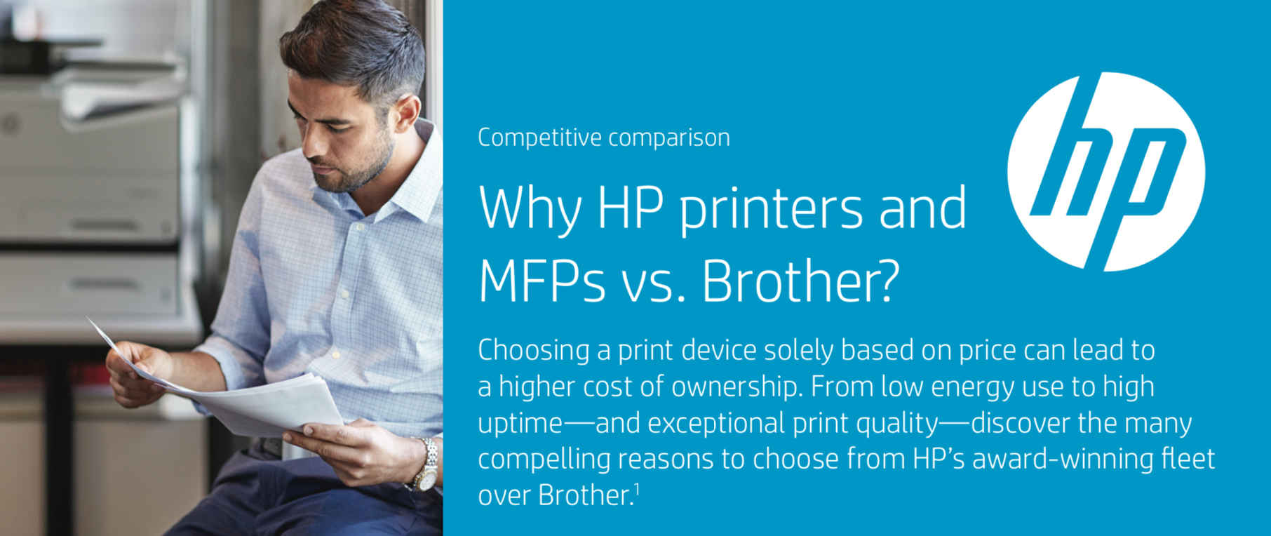 Why HP printers and MFPs vs Brother