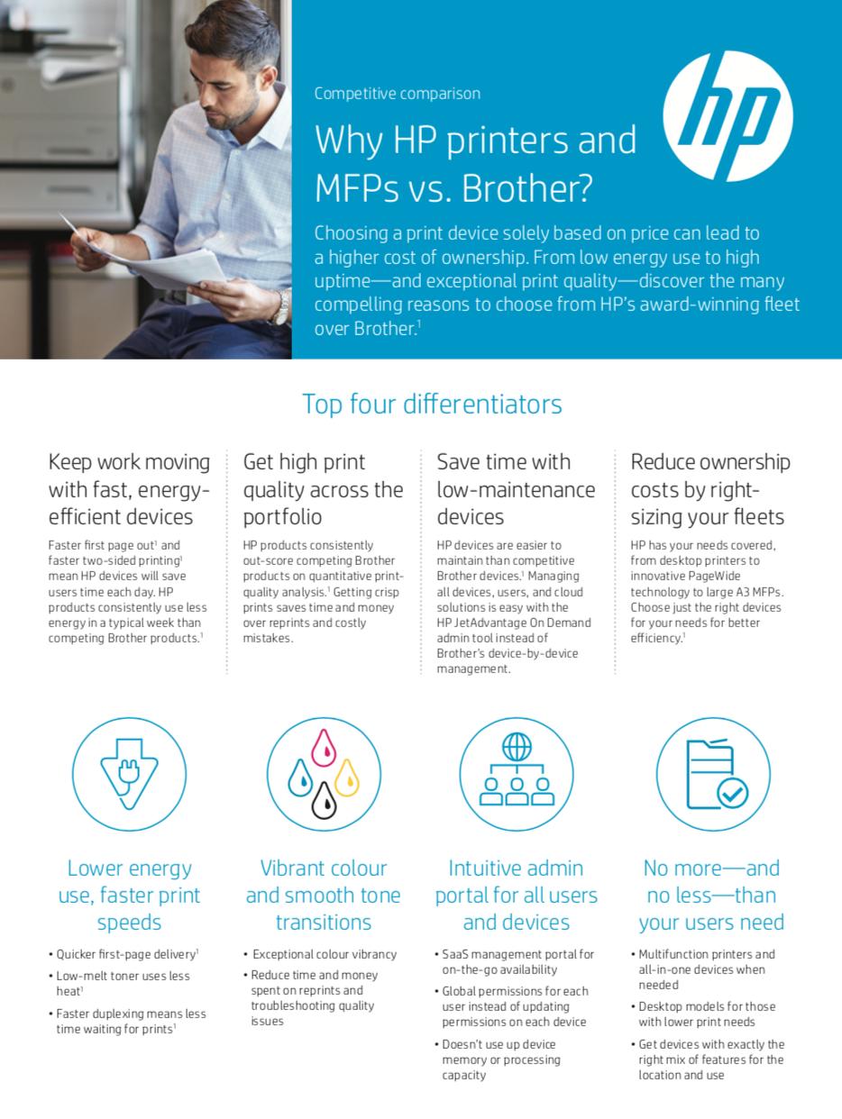 HP Printer vs Brother