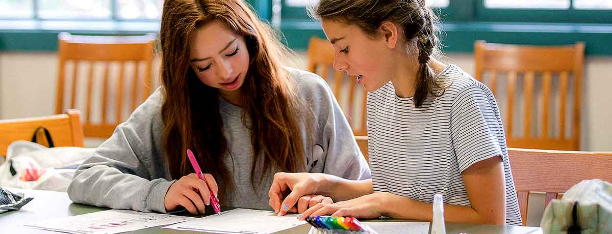 2 Girls In Classroom