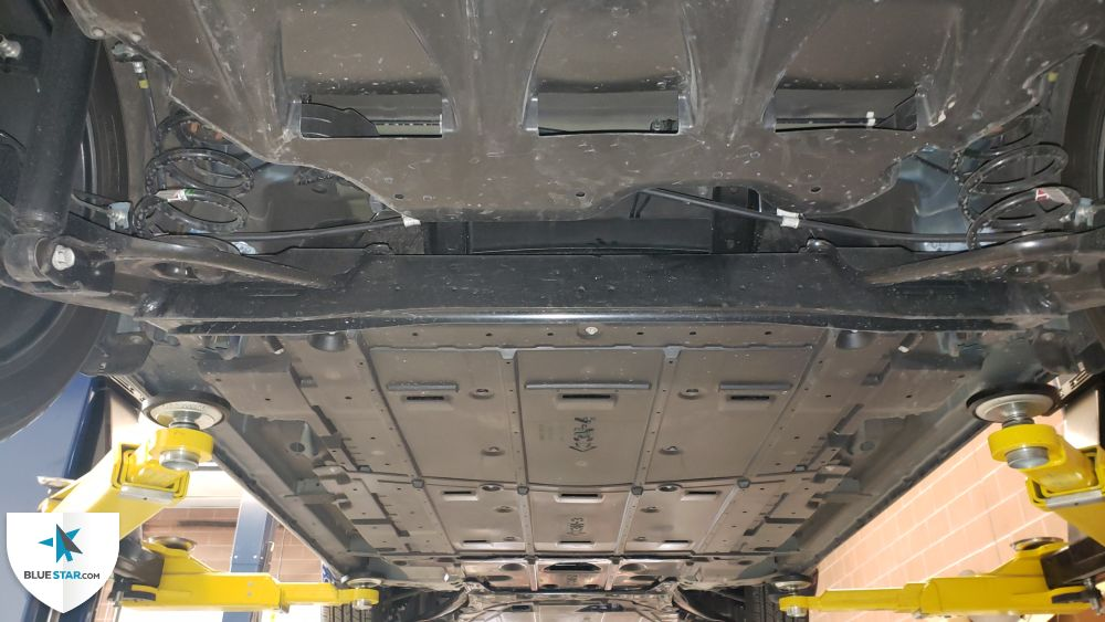 Undercarriage appears to be free from visible damage.