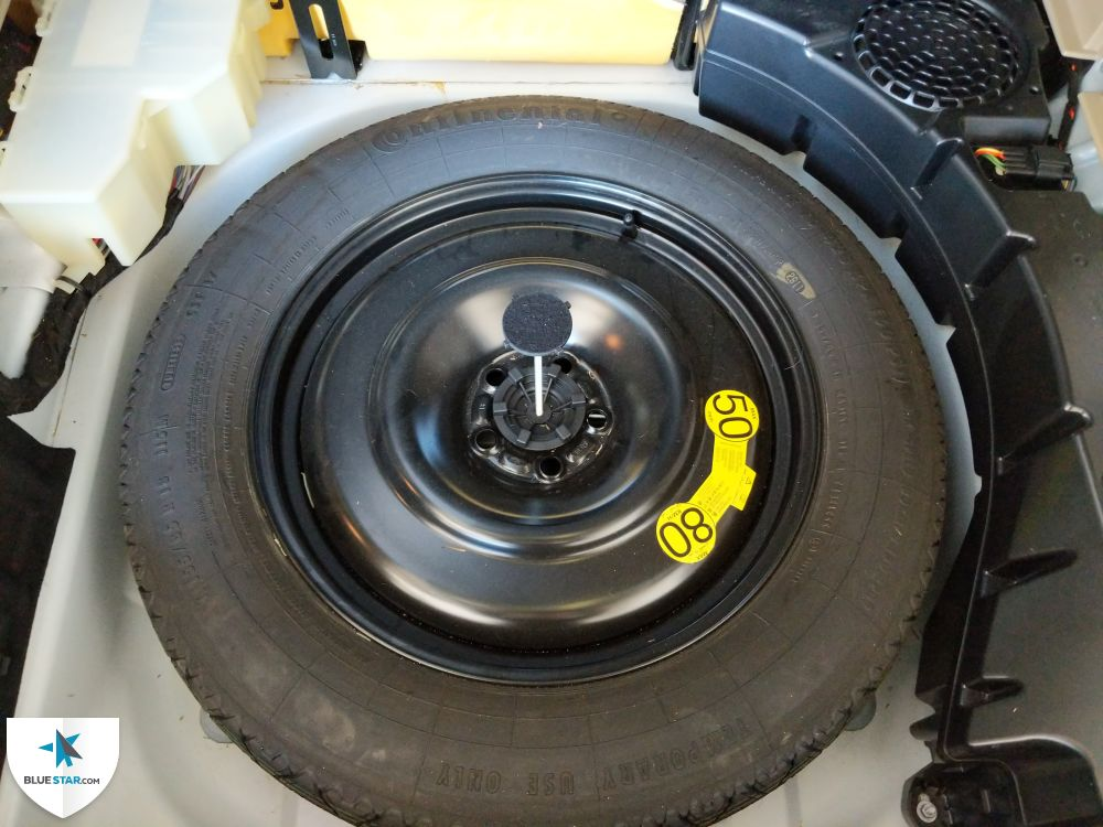 BlueStar Inspections performed a tire air pressure adjustment as the spare tire was flat at the time of inspection.