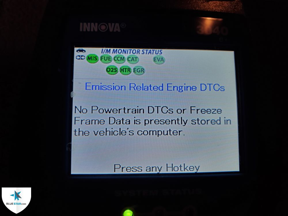 All OBD2 emissions monitors are ready and this vehicle would pass a state mandated emissions test at the time of inspection.