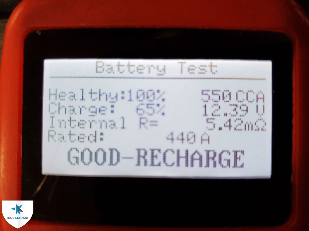 Battery passed the health test.