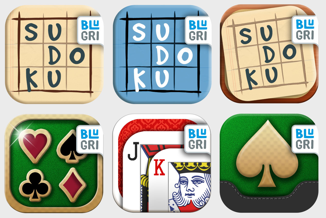 Icon variants for Sudoku and Solitaire