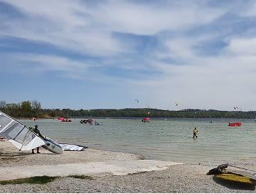 Ammersee (Eching): Kite- und Windsurfspot