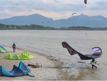 Chiemsee (Chieming): Kitesurf- und Windsurfspot