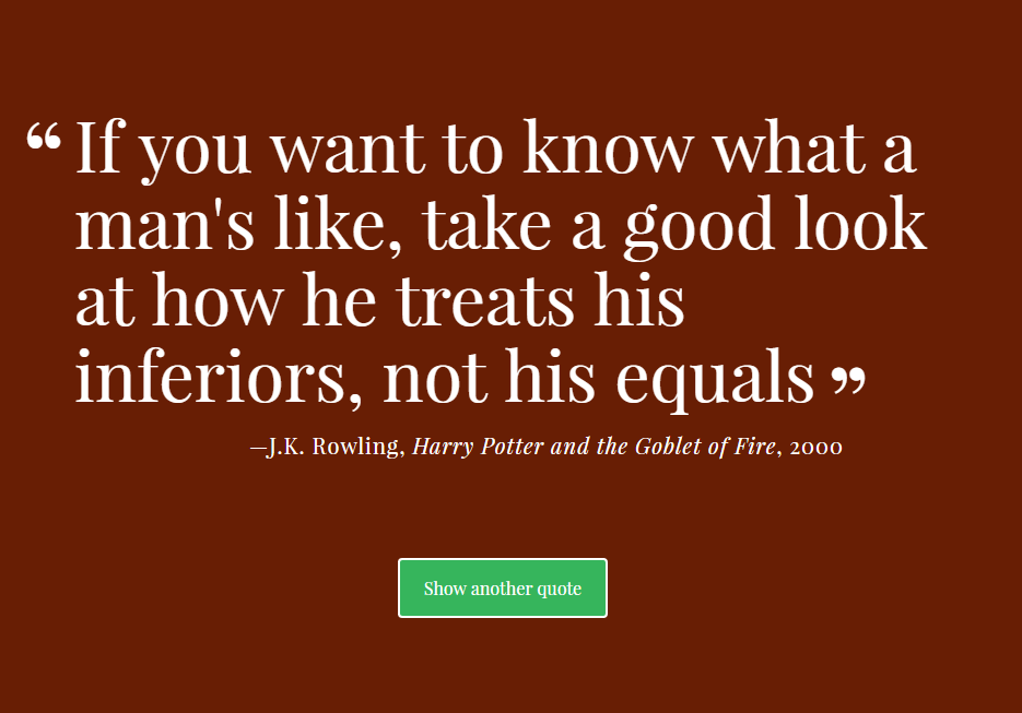 A quote generator with changing colored backgrounds. Created with JavaScript