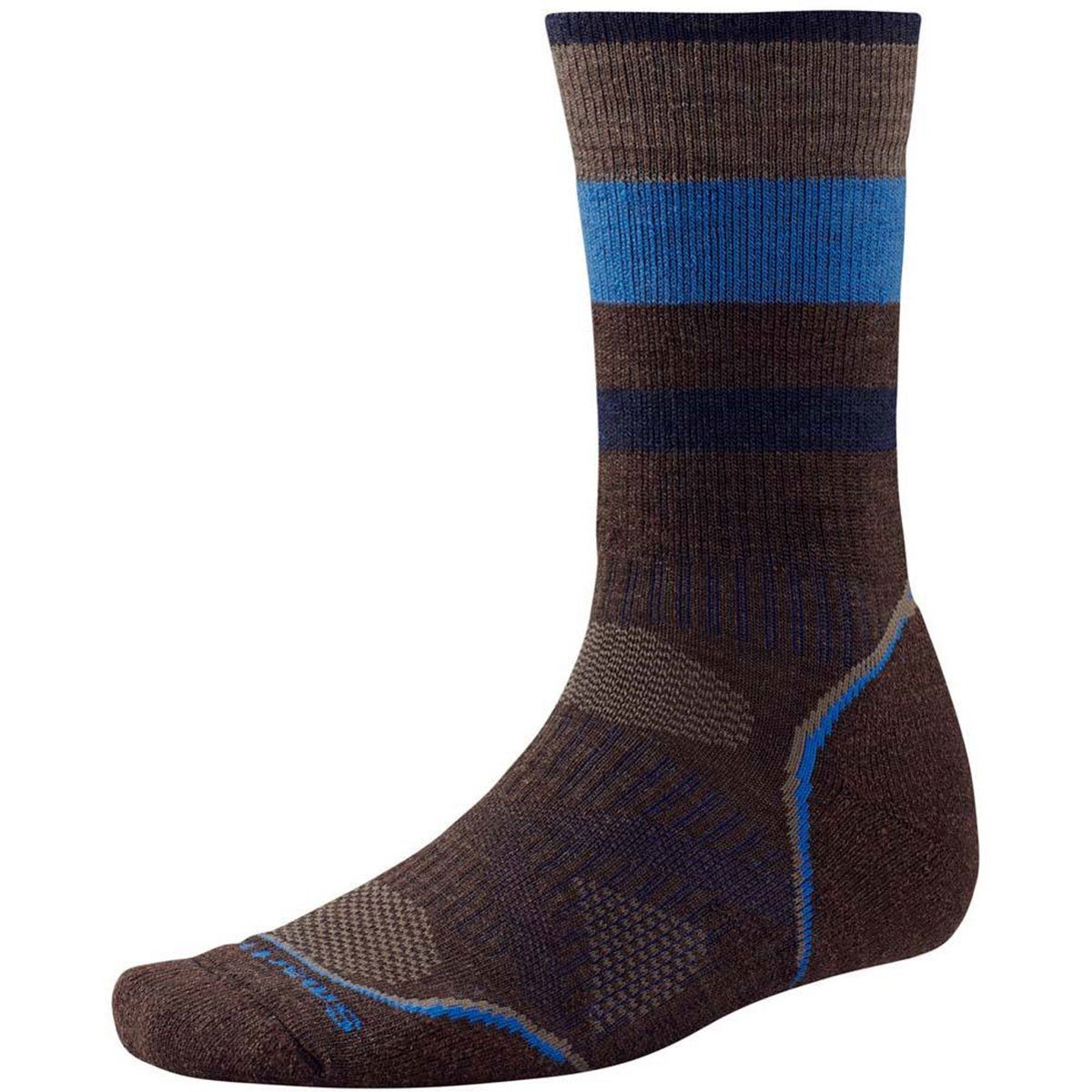 Smartwool Men's Phd V2 Outdoor Medium Crew Socks - Brown, M