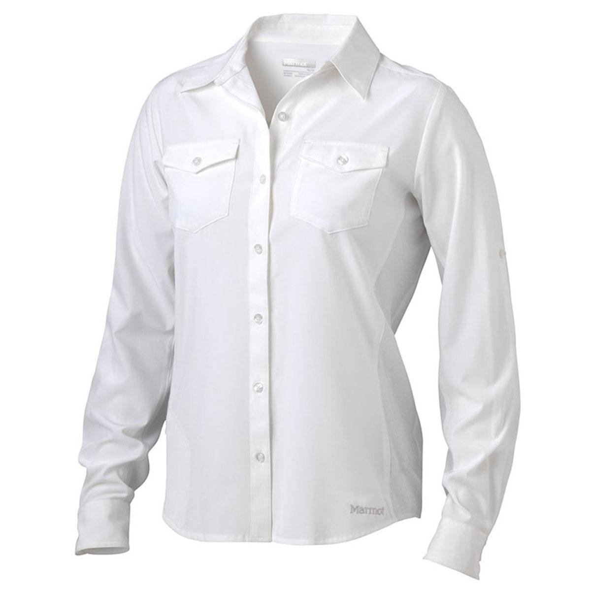 Marmot Women's Annika Long-Sleeve Shirt - White, XL