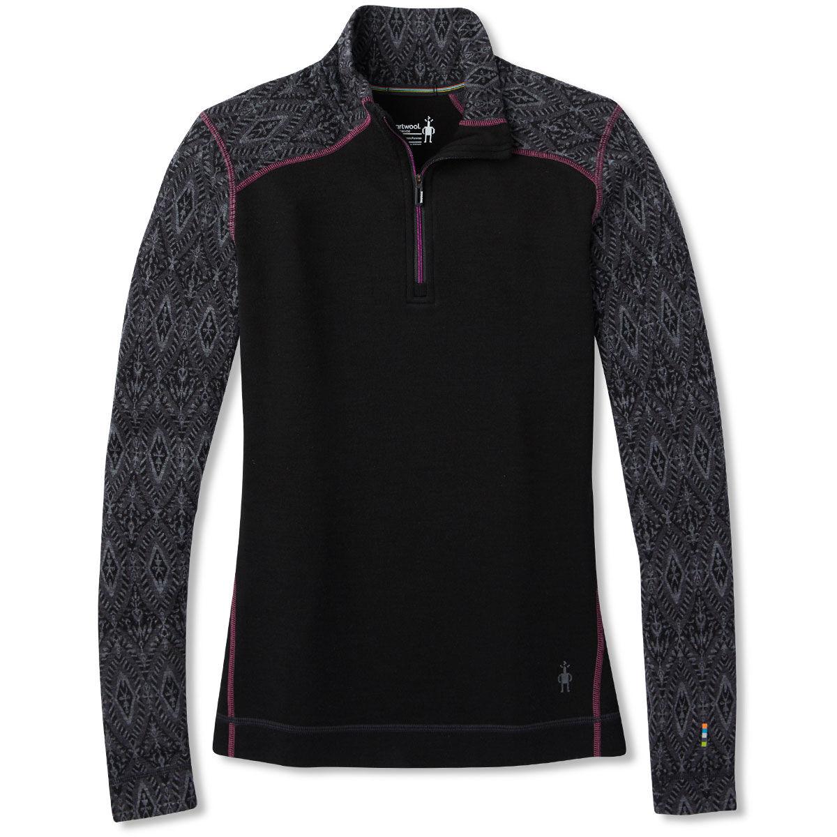 Smartwool Women's Nts Mid 250 Pattern Zip T - Black, M