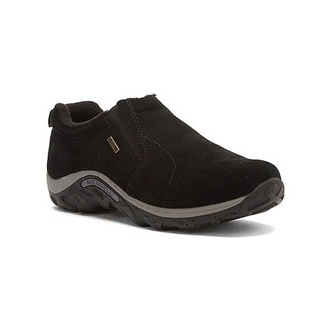 Merrell Kids' Jungle Moc Frosty Waterproof Hiking Shoes - Black, 4
