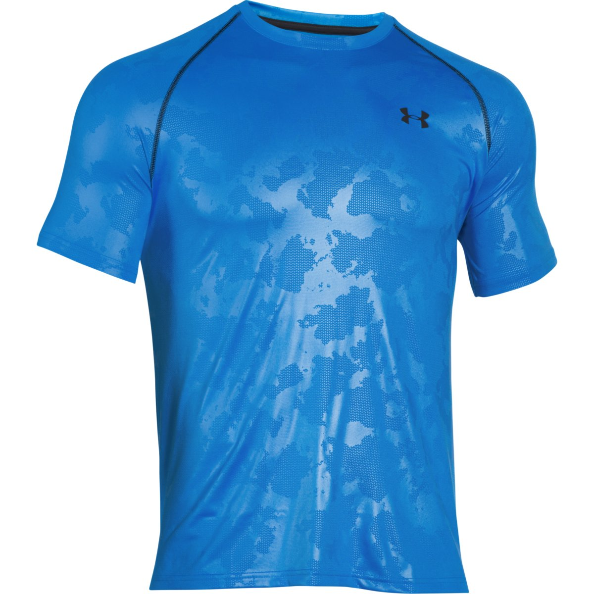 Under Armour Men's Tech Patterned Short-Sleeve T-Shirt - Blue, S