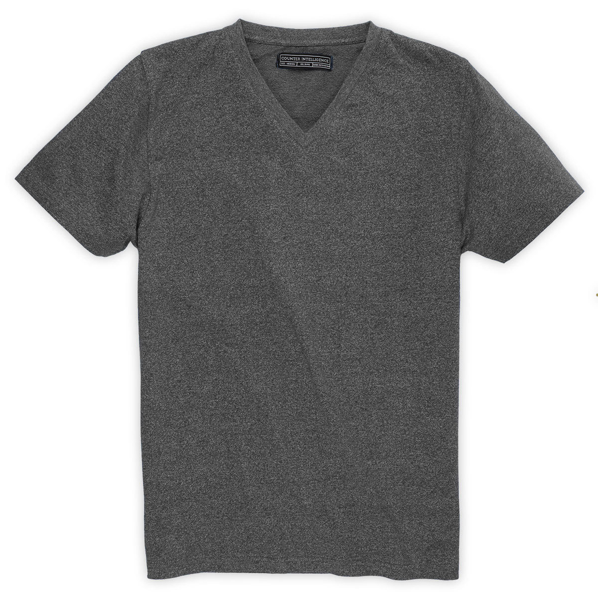 Counter Intelligence Guys' Marled V-Neck Tee - Black, L