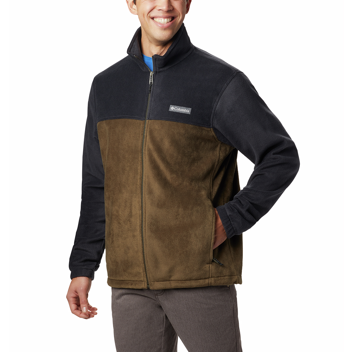 Columbia Men's Steens Mountain Full-Zip  2.0 Fleece Jacket - Black, S