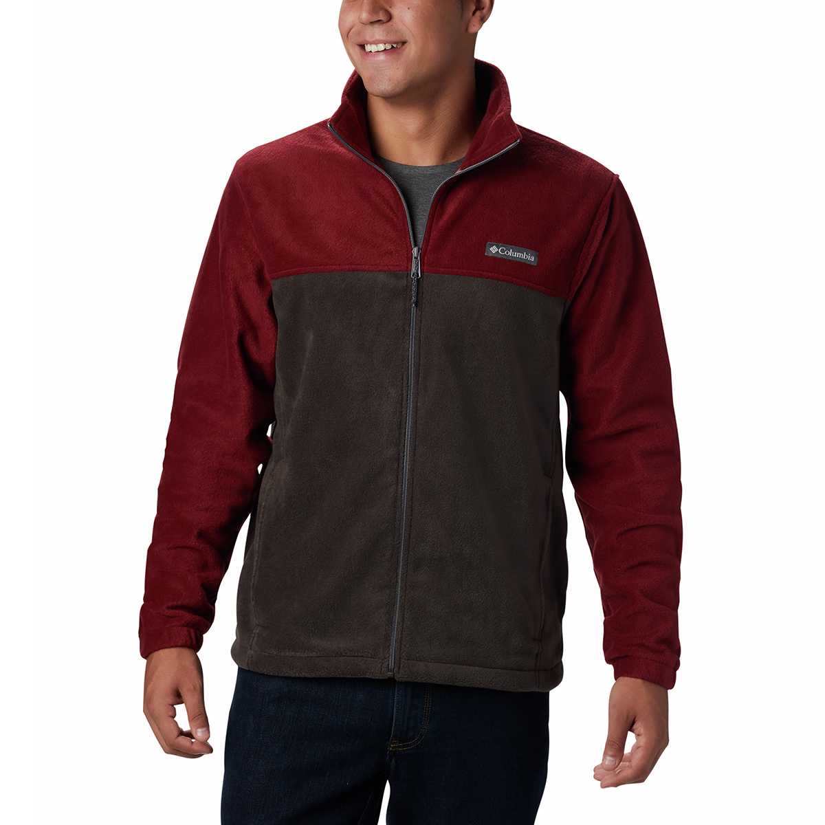 Columbia Men's Steens Mountain Full-Zip  2.0 Fleece Jacket - Red, XL