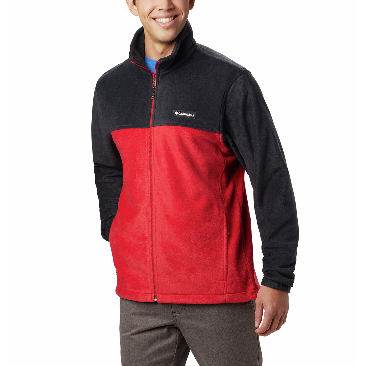 Columbia Men's Steens Mountain Full-Zip  2.0 Fleece Jacket - Red, S