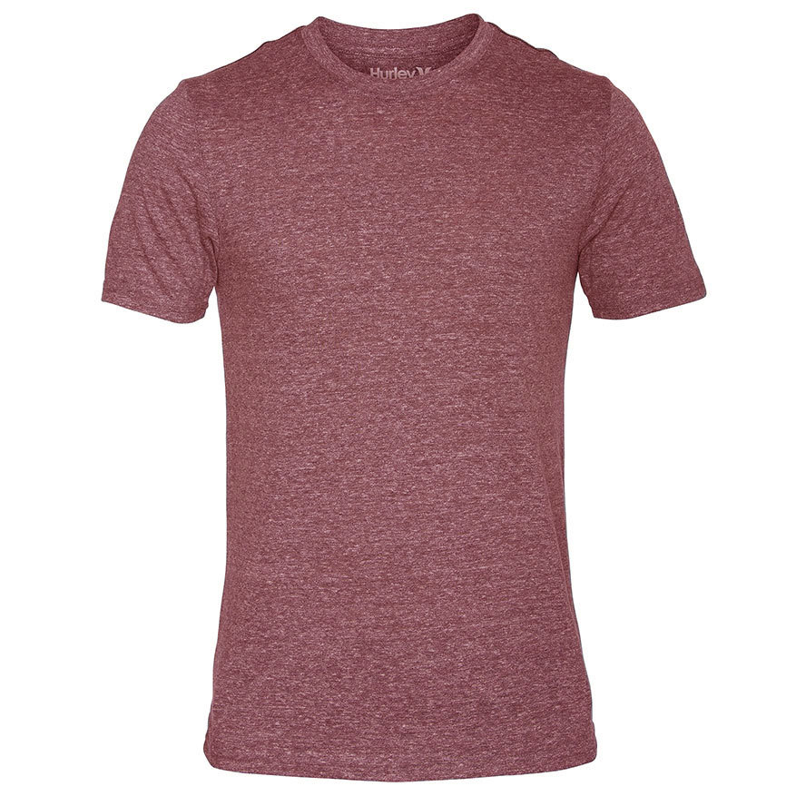 Hurley Young Men's Staple Tri-Blend Mock Twist Tee - Red, S