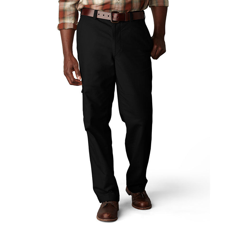 Dockers Men's Comfort Cargo Classic Fit Flat Front Pants - White, 38/29
