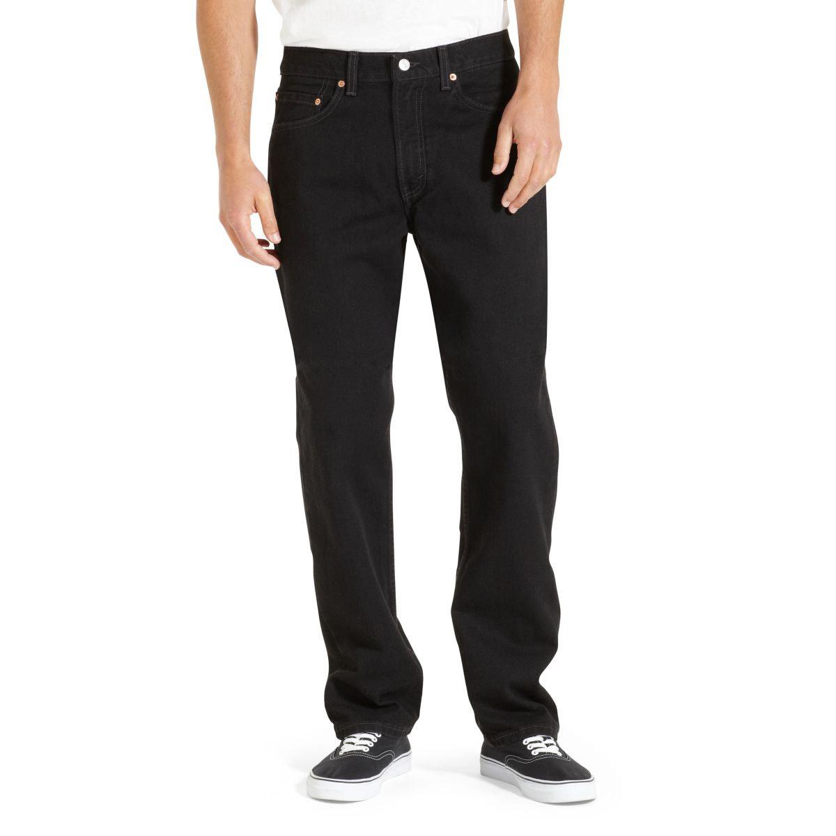 Levi's Men's 505 Regular Fit Jeans - Black, 36/29