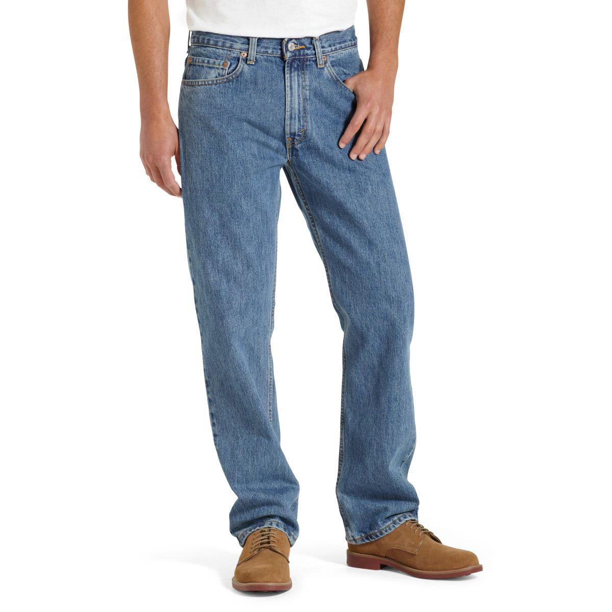 Levi's Men's 505 Regular Fit Jeans - Blue, 35/34